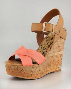 Love this: Sasha Snake Leather Wedge Sandal @Lyst