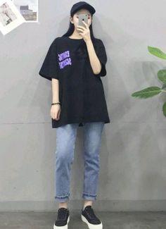 Korean Girl Fashion, Korean Fashion Trends, Ulzzang Fashion, Korean Street Fashion, Kpop Fashion Outfits, Korea Fashion, Asian Fashion, Tween Fashion, Boyish Outfits