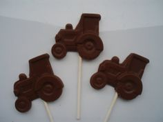 24 Tractor Chocolate pops by BearHeartsCrafts on Etsy, $31.95