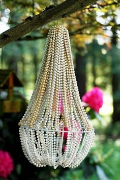 Simply Southern, Sweet, Classy and Sassy: DIY Beaded Chandelier