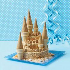 Tarta de cumpleaños para fiestas de princesas