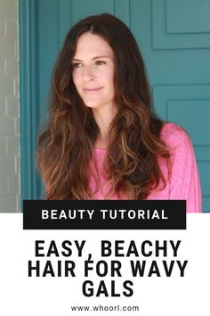 Since it's summer, I'm giving the good ol' curling iron a rest, and enhancing my natural waves, which requires a LOT less effort. Hallelujah. Here's how you can do it in 5 easy steps. #summer #tutorial #waves #beauty