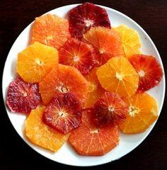 Heirloom Navel, Cara Cara & Blood Orange Slices