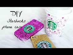 DIY: Starbucks Phone Case Definitely going to make one PSL inspired now that I know how I can fit my iPod in an iPhone case :D