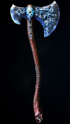 Axe of Lebiatan Anime Weapons, Fantasy Weapons, Fantasy Warrior, Vikings, Kratos God Of War, Armas Ninja, Sword Design, Battle Axe, Weapon Concept Art