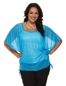 Samya Butterfly Sleeve Round Neck Top product photo #NewandNow