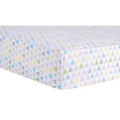 Trend Lab Triangles Multicolored Fitted Crib Sheet - http://babyfur.net/trend-lab-triangles-multicolored-fitted-crib-sheet/