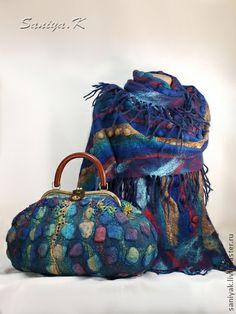 """Сумка и Шарф """"Морская Радуга"""" женские - купить сумку женскую,женскую сумку купить"""