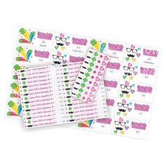 Stickers para marcar cuadernos.