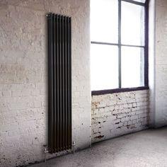 Milano Windsor - Traditional Black 3 Column Vertical Radiator 1800mm x 383mm