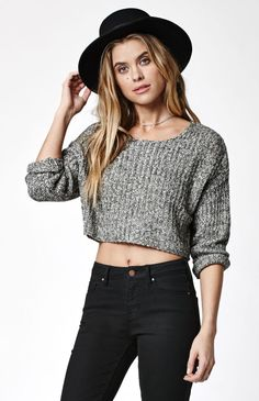 Billabong Me And You Cropped Pullover Sweater