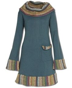 Soul Flower - NEW! Winter Warmth Hooded Tunic #teal #bohemian #beauty