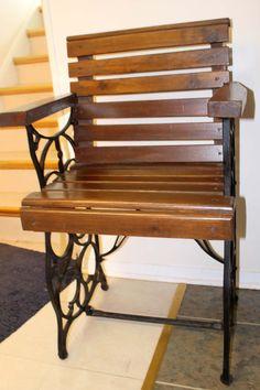 Treadle Sewing Machine Base Repurposed Chair by GeorgeNancyLee