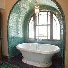spacious soaking tub- the ultimate