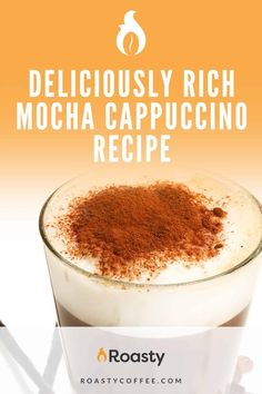 A cappuccino can have so many variations but why not try the recipe that includes chocolate?! This rich and creamy recipe is the perfect concoction for all you coffee and mocha lovers. Warning: you may become emotionally attached to this drink! // coffee // recipe coffee // diy coffee // recipes with coffee // coffee recipes // at home coffee recipes // delicious coffee // Coffee Drink Recipes, Coffee Drinks, Chocolate Syrup, Chocolate Lovers, Homemade Mocha, Cappuccino Recipe, Italian Drinks, Dark Roast, Few Ingredients