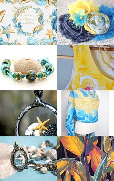 Seaside blue and yellow too by Bethany R on Etsy--Pinned with TreasuryPin.com
