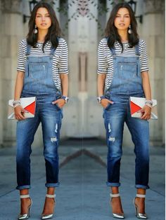 Image result for how to wear overalls