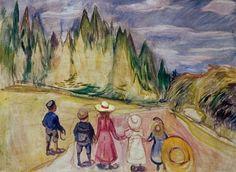 Edvard Munch - The Fairytale Forest, 1901-02.