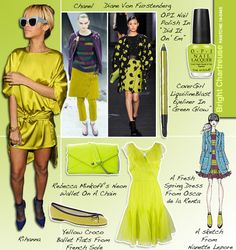 Pantone Bright Chartreuse #14-0445 And The Fashion And Beauty Trends That Match (PHOTOS)