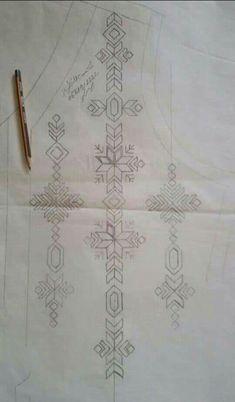 Amazing Phulkari Embroidery, Embroidery Patterns Free, Hand Embroidery Patterns, Ribbon Embroidery, Beaded Embroidery, Embroidery Stitches, Machine Embroidery, Embroidery On Clothes, Embroidery Fashion