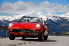Alfa Romeo Duetto Spider in Südtirol   Nostalgic Oldtimerreisen