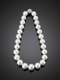 so they don't exactly sparkle, but giant South Sea pearls are a dowager must-have. $78,000