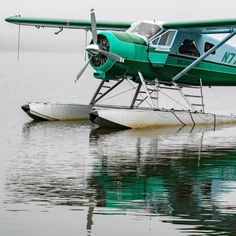 Green reflections. Wes takes another load of customers eager to see Alaska by air up close and personal.