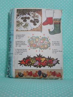 Vintage Christmas Decor Pattern McCall's 8054.SOLD  1965 Patterns for Christmas, Spring, Fall, Christmas. Mad Men Decor. Cheap Vintage Pattern