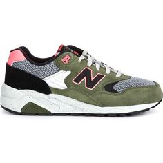 New Balance '999 Composite' trainers ($140) ❤ liked on Polyvore featuring shoes, sneakers, green, multicolor sneakers, new balance trainers, new balance footwear, multi color shoes ve suede shoes