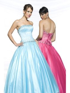 Ball Gown Corset Admirable Beading Strapless Long Fashion Prom Dress