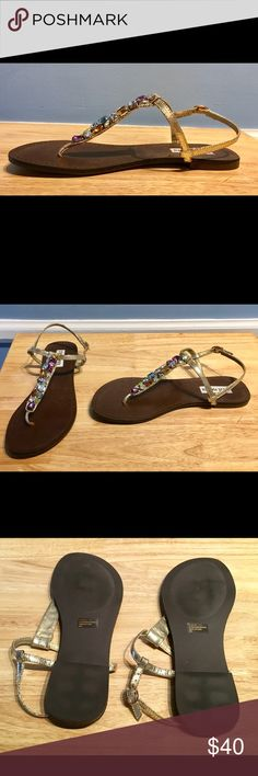 Fabulous Steve Madden Jeweled Sandals!!Brand New!! Gorgeous Sandals!! They allow you to be fun and festive yet still be comfy!! Steve Madden Shoes Sandals