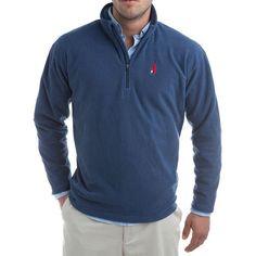 1/4 Zip Fleece Pull-Over Fleece in Depth Blue by Johnnie-O