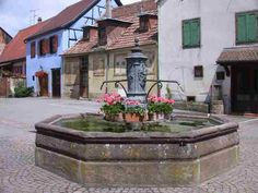 Fountain in Saverne, France.  Reminds me of the fountain scene in Beauty and the Beast