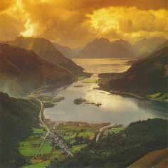 Glencoe Village and Loch Leven, Scotland