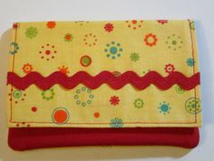 Retro, Women's Wallet, Bright, Bold, Yellow, Colorful, Trendy, With Pockets by EyeCandyQuilts, $11.00