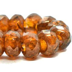 Czech Glass Flower Beads Small 8mm Green Opal Daisy Beads Qty 12 Bead Caps