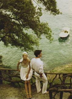 boating, by mario testino, couple, fashion, gemma ward, idol