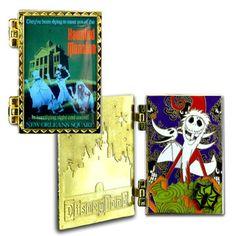 Disneyland Haunted Mansion Disney Poster Pin Jack Skellington LE 1000
