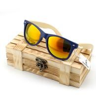 Wooden Bamboo Sunglasses for Women - Classic Wood With Plastic Frame UV400 Protect Polarized Lenses with Wood Gift Box Included BS3