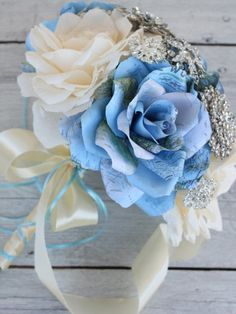 Welcome to my shop and contact me about the wedding package for you. You can find wedding bouquets packages for $200-$300 there. Let's make something unique and beautiful for you! Rose Wedding Bouquet, Paper Flowers Wedding, Rose Bouquet, Bridesmaid Bouquet, Paper Peonies, Paper Roses, Wedding Costs, Plan Your Wedding, Brooch Bouquets