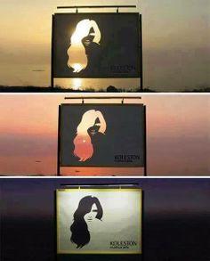 Zekice yapılan saç boyası reklamı...
