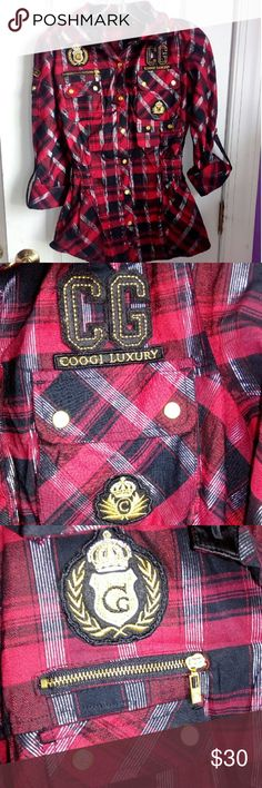 Red black checkered coogi dress