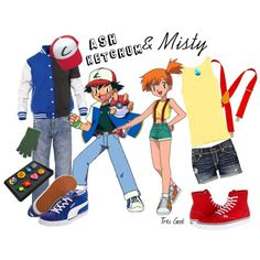 """""""Inspired by Ash and Misty"""" by tresgeek on Polyvore"""