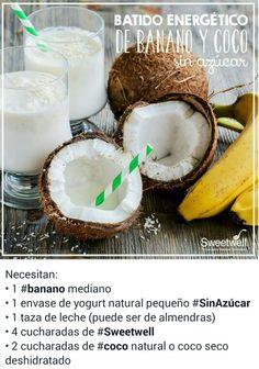 Batido de banano y coco