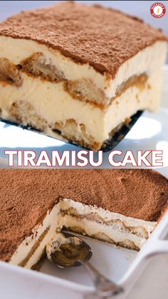 Tiramisu is a classic Italian no-bake dessert made with layers of ladyfingers and mascarpone custard cream (no raw eggs! Truly the best homemade tiramisu. # no bake Desserts Tiramisu Recipe Holiday Desserts, No Bake Desserts, Easy Desserts, Thanksgiving Desserts, Homemade Desserts, Recipes Dinner, Amazing Dessert Recipes, Easy Italian Desserts, Easy Delicious Desserts