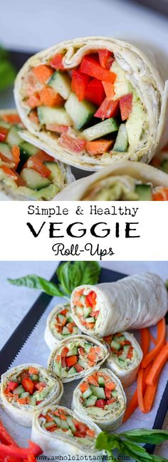 Veggie Roll-Ups - A Whole Lotta Oven You are in the right place about kids lunch best Here we offer Veggie Lasagna Roll Ups Recipe, Veggie Roll Ups, Lunch Snacks, Healthy Snacks, Healthy Eating, Lunches, Lunch Box, Best Appetizers, Appetizer Recipes