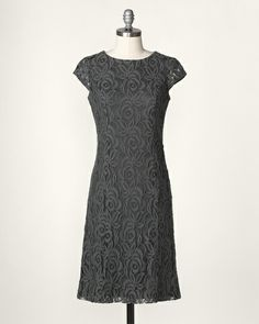 Cap sleeve lace sheath dress from Cold Water Creek $130.  A little twist on the traditional sheath dress