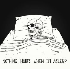 I just get called lazy, sleep is the only way I can escape reality—🥀 — Arte Obscura, Skeleton Art, Sad Wallpaper, Skull Art, Aesthetic Art, Dark Art, Aesthetic Wallpapers, Creepy, Cool Art