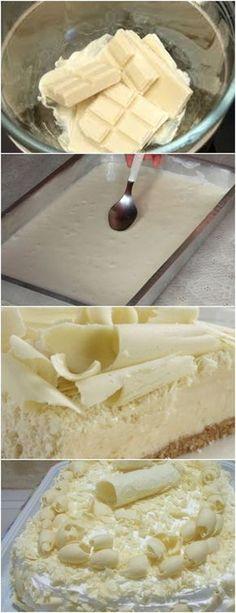 Bolo Gelado de Chocolate Branco VEJA AQUI>>>epare as gemas e bata as claras em neve, adicione o açúcar aos poucos e as gemas. 2. Peneire a farinha de trigo com o fermento e adicione aos poucos.Coloque o leite morno e bata novamente e, por último, adicione a manteiga. #receita#bolo#torta#doce#sobremesa#aniversario#pudim#mousse#pave#Cheesecake#chocolate#confeitaria