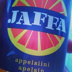 Erstmal finnische Limo!  #jaffa